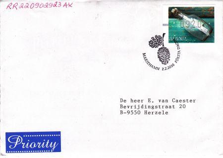 奥兰群岛2月2日发行漂流瓶电子邮票